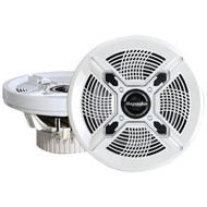 "BAZOOKA MAC8100W Marine 2-Way Coaxial Speakers (8"", White) (R-BZKMAC8100W)"