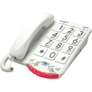 CLARITY 76557.101 Amplified Telephone with Talk Back Numbers (White Buttons) (R-CLARJV35W)
