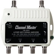 CHANNEL MASTER CM-3414 Ultra Mini Distribution Amp (4 Port) (R-CMSTCM3414)
