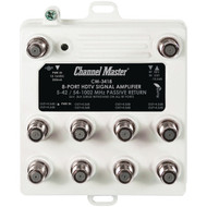 CHANNEL MASTER CM-3418 Ultra Mini Distribution Amp (8 Port) (R-CMSTCM3418)
