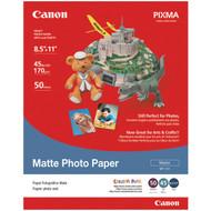 "CANON 7981A004AB Matte Photo Paper (8.5""L x 11""W; 50 pk) (R-CND7981A004)"