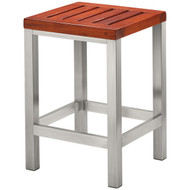 Brooklyn Collection CON07 The Brooklyn Collection Medium Bench (Teak/Stainless Steel) (R-CNRCON07)