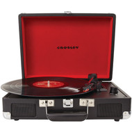 CROSLEY RADIO CR8005A-BK Cruiser Portable Turntables (Black) (R-COYCR8005ABK)