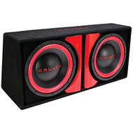 "Crunch, Dual 12"" Subwoofer Bass Pkg Powered Enclosure, Built In Amp (R-CR212A)"