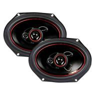 "Audiopipe Speaker 6X8"" 3-Way 300 W; Pp Electroplate Cone (R-CSL6803R)"