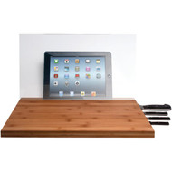 CTA Digital PAD-BCBG iPad(R)/Tablet Knife Storage Bamboo Cutting Board with Screen Shield (R-CTABCBG)