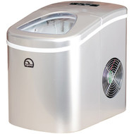 Igloo ICE108-SILVER Compact Ice Maker (Silver) (R-CURICE108S)