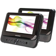 "SYLVANIA SDVD8739 7"" Dual-Screen Portable DVD Player (R-CURSDVD8739)"