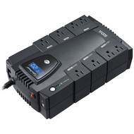 CyberPower CP600LCD 8-Outlet Intelligent LCD UPS System (R-CYBCP600LCD)