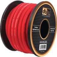 DB LINK MKPW4R100 Maxkore(TM) 100% OFC Copper Soft-Touch Power & Ground Wire (4 Gauge, 100ft, Red Power) (R-DBDMKPW4R100)