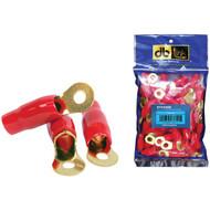 "DB LINK RT450GR 4-Gauge 5/16"" Gold-Plated Ring Terminals, 50 pk (Red) (R-DBDRT450GR)"