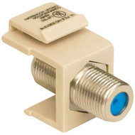 DATACOMM ELECTRONICS 20-3202-LA Keystone Jack with 2.4GHz F-Connector (Light Almond) (R-DCM203202LA)