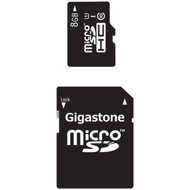 GIGASTONE GS-2IN1C1008G-R Class 10 UHS-1 microSDHC(TM) Card & SD Adapter (8GB) (R-DEM2IN1C1008GR)