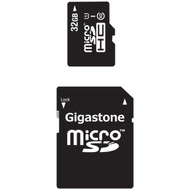 GIGASTONE GS-2IN1C1032G-R Class 10 UHS-1 microSDHC(TM) Card & SD Adapter (32GB) (R-DEM2IN1C1032GR)