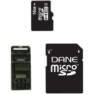 DANE-ELEC DA-3IN1-16G-R microSD(TM) Card (16GB) (R-DEMDA3IN116GR)