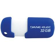 DANE-ELEC DA-ZMP-32G-CA-A1-R Capless USB Pen Drive (32GB; Blue) (R-DEMDAZMP32G1R)