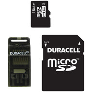 DURACELL DU-3IN1-16G-R Class 4 microSD(TM) Card with SD(TM) & USB Adapters (16GB) (R-DEMDU3IN116GR)