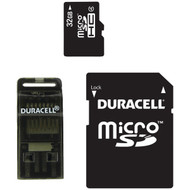 DURACELL DU-3IN1-32G-R Class 4 microSD(TM) Card with SD(TM) & USB Adapters (32GB) (R-DEMDU3IN132GR)