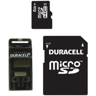 DURACELL DU-3in1C1008G-R Class 10 microSD(TM) Card with SD(TM) & USB Adapters (8GB) (R-DEMDU3IN1C1008GR)