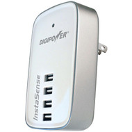 DIGIPOWER ACD-400I InstaSense(TM) 4.2-Amp 4-Port USB Travel Wall Charger (R-DGPACD400I)