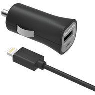 DIGIPOWER IS-PC2L InstaSense(TM) 2.4-Amp Single-Port USB Car Charger with 5ft Lightning(R) Cable (R-DGPISPC2L)