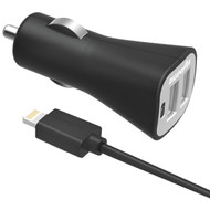 DIGIPOWER IS-PC3DL InstaSense(TM) 3.4-Amp Dual-USB Car Charger with 5ft Lightning(R) Cable (R-DGPISPC3DL)