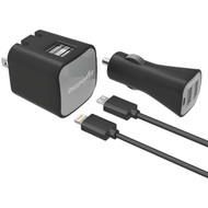 DIGIPOWER IS-PK2ML InstaSense(TM) 2.4-Amp Dual-USB Car Charger & Wall Charger (R-DGPISPK2ML)