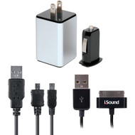 ISOUND ISOUND-2149 2.1-Amp 4-in-1 USB Combo Charger Pack (R-DRM2149)
