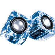 DREAMGEAR DGUN-6827 Ice Crystal Clear Compact Speakers (Blue) (R-DRM6827)