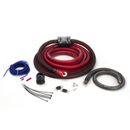 New Scosche 0AWG OFC Amp Power Kit; 300A dual mini-ANL, ultra-flex fine strand, ultimate ground, printed polybag (R-EFXAKC0B)