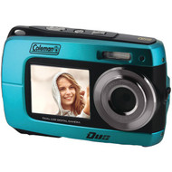 COLEMAN 2V8WP-BL 18.0-Megapixel Duo 2V8WP Dual-Screen Waterproof HD Digital Camera (Blue) (R-ELB2V8WPBL)