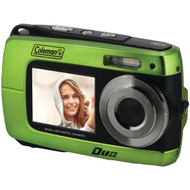 COLEMAN 2V8WP-G 18.0-Megapixel Duo 2V8WP Dual-Screen Waterproof HD Digital Camera (Green) (R-ELB2V8WPG)