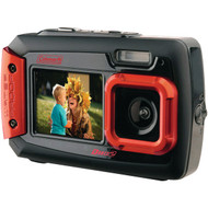 COLEMAN 2V9WP-R 20.0-Megapixel Duo2 Dual-Screen Waterproof Digital Camera (Red) (R-ELB2V9WPR)