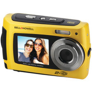 BELL+HOWELL 2VIEW18-Y 2VIEW18 Dual-Screen Waterproof HD Camera (Yellow) (R-ELB2VIEW18Y)