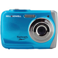 BELL+HOWELL WP7-BL 12.0-Megapixel WP7 Splash Waterproof Digital Camera (Blue) (R-ELBWP7BL)