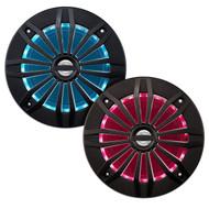 "Enrock Marine 6.5"" 2 Way 200Watt Black Speakers Featuring Multi Color LEDs (R-EMRGB265B)"