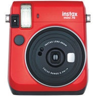 FUJIFILM 16513918 Instax(R) Mini 70 Instant Camera (Passion Red) (R-FDC16513918)