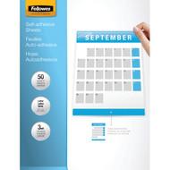 "FELLOWES 5221502 9"" x 12"" Self-Adhesive Laminating Sheets, 50 pk (R-FLW5221502)"