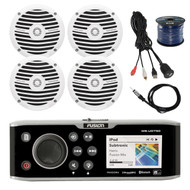 "Fusion Marine CD/DVD Stereo, 4x 6.5"" Speakers,50Ft Wire,Antenna,USB Aux Mount (R-FUSMSAV750-BAYBOAT)"