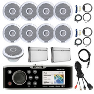 "DVD/CD Player,8x 7"" Speakers, Amp, 10"" Sub,Install Kit, Antenna,Remote,Mount (R-FUSMSAV750-BOAT)"