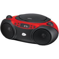 GPX BC232R Sporty CD & Radio Boom Box (Red) (R-GPXBC232R)