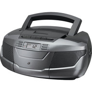 GPX BCA206S CD Boom Box with AM/FM Radio & Cassette Player (R-GPXBCA206S)