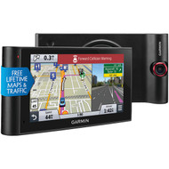 "GARMIN 010-01378-01 nuviCam(TM) LMTHD 6"" GPS Navigator with Built-in Dash Cam, Bluetooth(R) & Free Lifetime Maps & Traffic Updates (R-GRM0137801)"