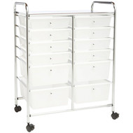 HONEY-CAN-DO CRT-01683 12-Drawer Rolling Cart (R-HCDCRT-01683)