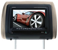 "Boss 7"" Headrest Monitor Dvdusb/Sd Remote 3 Color Skins (R-HIR70BGTA)"