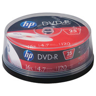 HP DM16025CB 4.7GB 16x DVD-Rs (25-ct Cake Box Spindle) (R-HOODM16025CB)