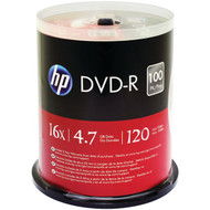 HP DM16100CB 4.7GB DVD-Rs, 100-ct Spindle (R-HOODM16100CB)