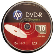 HP DM16WJH010CB 4.7GB 16x Printable DVD-Rs, 10-ct Cake Box Spindle (R-HOODM16WJH010)