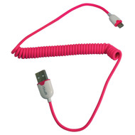 Istuff Micro Usb To Usb Sync/Charger Coiled Cable For Smartphone (R-ICCMUPK5)