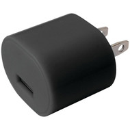 IESSENTIALS IE-AC1-USB 1-Amp USB Wall Charger (Black) (R-IEAC1USB)